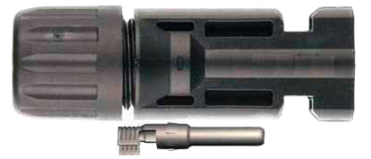 MC4 Female connector: click to enlarge